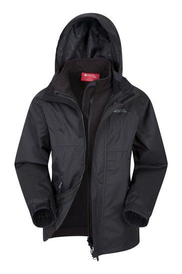 Mountain Warehouse Black Bracken Extreme 3 In 1 Kids Jacket