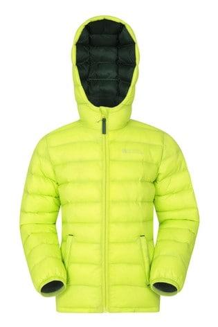 Mountain Warehouse Lime Green Seasons Kids Water Resistant Padded Jacket