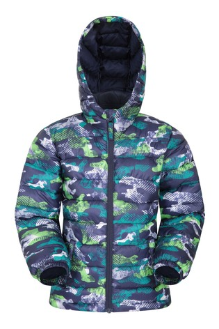 Mountain Warehouse Black Seasons Kids Water Resistant Padded Jacket