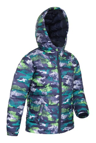 Mountain Warehouse Black Seasons Kids Water Resistant Padded Jacket