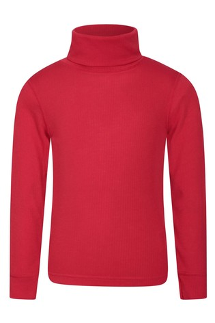 Mountain Warehouse Red Talus Kids Roll Neck Top