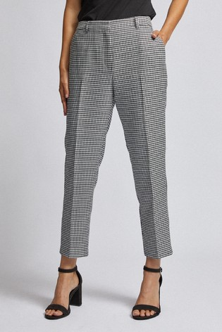 Dorothy Perkins Mono Dogtooth Ankle Grazer Trousers