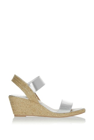 Lipsy Silver Low Espadrille Wedges