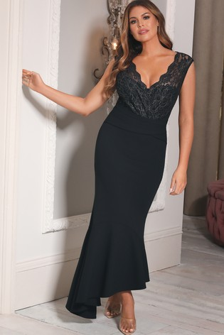 Sistaglam Loves Jessica 2-In-1 Lace Stretch Maxi Dress