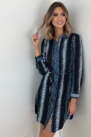 Lipsy Stripe Print Shirt Dress