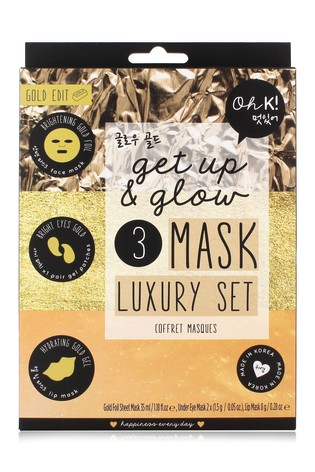 Oh K! Get Up and Glow 3 Mask Luxury Set