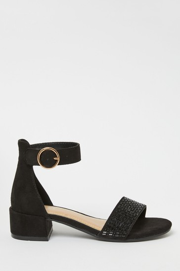 Lipsy Black Low Block Heel Sandals (Older)
