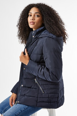 Dorothy Perkins Short Length Hooded Padded Coat