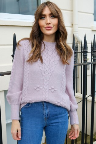 Love & Roses Blush Cable Jumper