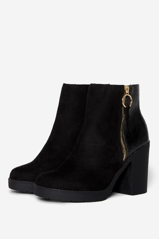 Dorothy Perkins Animal Wide Fit Abby Chunky Ankle Boot