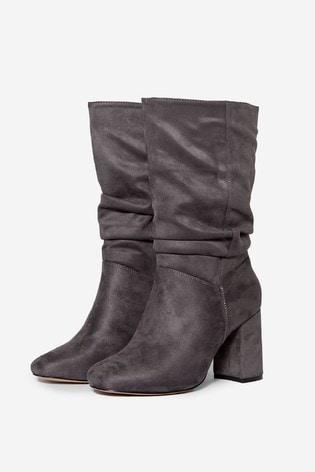 Dorothy Perkins Grey Wide Fit Kinder  Boot