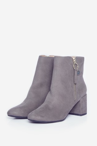 Dorothy Perkins Grey Wide Fit Adaline Boot