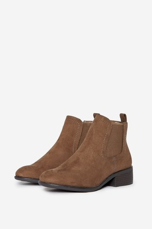 Dorothy Perkins Taupe Wide Fit Maple Chelsea Ankle Boot