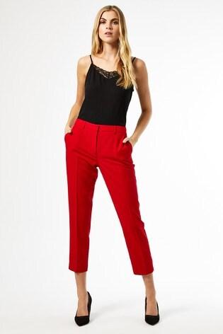 Dorothy Perkins Red Ankle Grazer Trouser