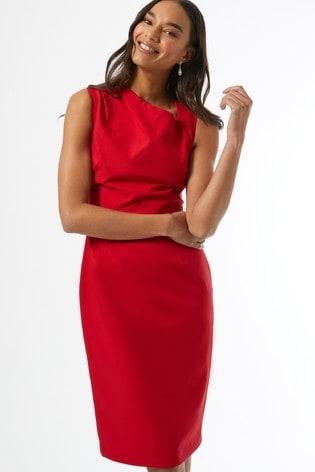 Dorothy Perkins Red Asymmetric Neck Dress
