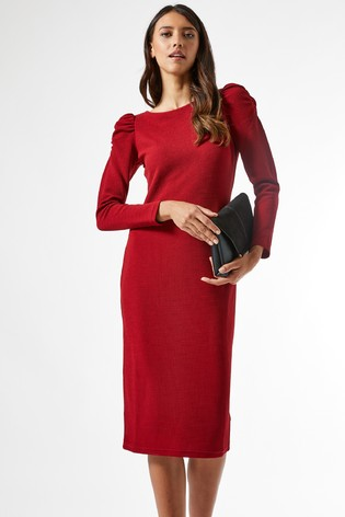 Dorothy Perkins Ruched Sleeve Bodycon