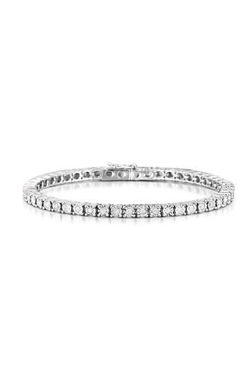 The Diamond Store White 1.00ct Set Tennis Bracelet