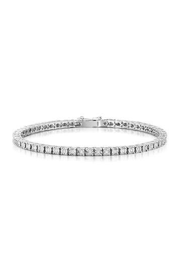 The Diamond Store White 0.57ct Set Tennis Bracelet