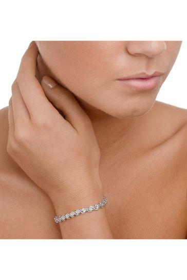 The Diamond Store White 0.19ct and Silver Twist Bracelet