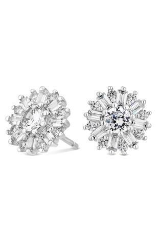 Simply Silver Sterling Silver Snowflake Earrings