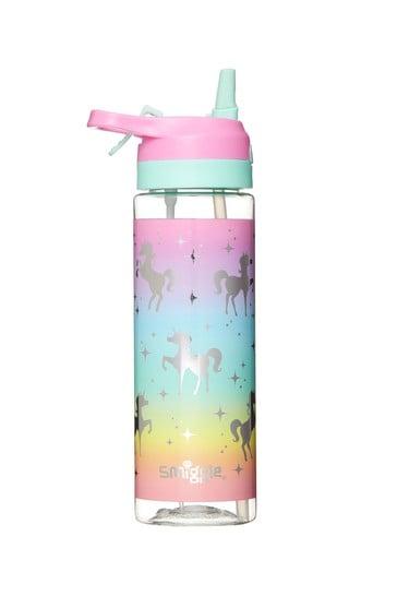 Smiggle Rainbow Unicorn Viva Spritz Flip Spout Drink Bottle
