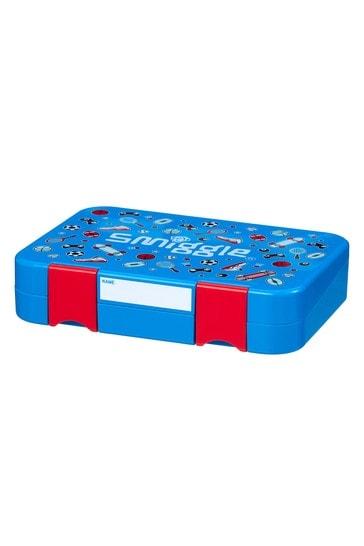 Smiggle Blue Happy Bento Lunchbox