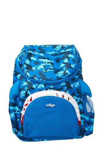Smiggle Mid Blue Hoodie Character Junior Backpack