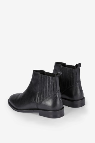 Dorothy Perkins Wide Fit Leather Chelsea Boots