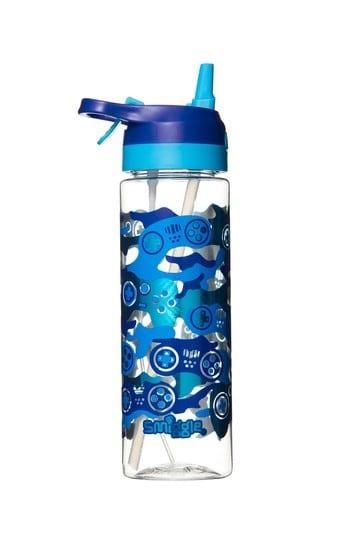 Smiggle Blue Viva Spritz Flip Spout Drink Bottle
