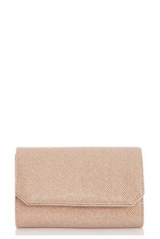 Quiz Rose Gold Textured Shimmer Bag