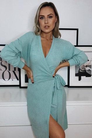Nouveau Lipsy Fleuri Bleu ALANA Soft Structured Midi Robe Tailles UK 4 8 10 /& 16