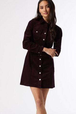 Dorothy Perkins Petite Cord Shirt Dress