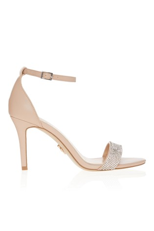 Lipsy Nude Diamanté Barely There Sandal