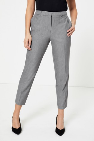 Dorothy Perkins Dark Grey Ankle Grazer Trousers