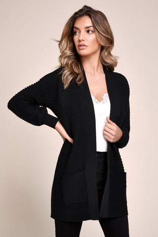 Lipsy Black Volume Sleeve Cardigan