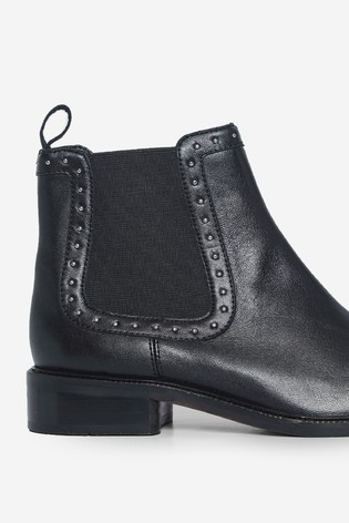 Dorothy Perkins Black Studded Chelsea Ankle Boot