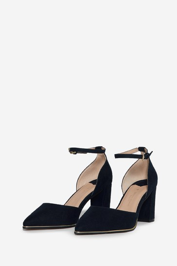 Dorothy Perkins Navy Wide Fit Evoke Court Shoe