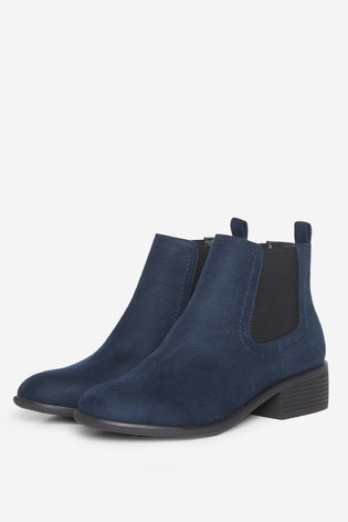Dorothy Perkins Navy Wide Fit Maple Chelsea Ankle Boot