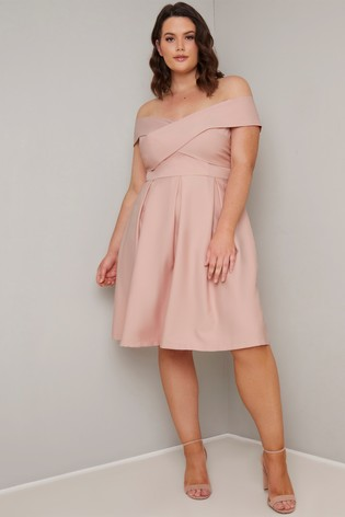 Chi Chi London Curve Bardot Dress