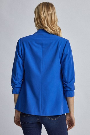 Dorothy Perkins Blue Ruched Sleeve Jacket