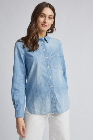 Dorothy Perkins Light Wash Denim Shirt