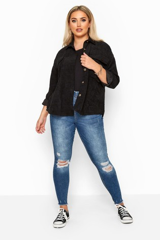 Yours Curve Ripped Knee Jeggings
