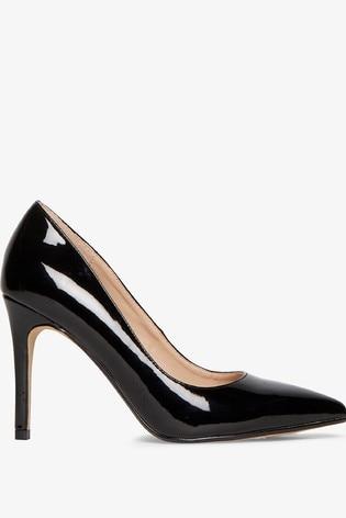 Dorothy Perkins Black Patent Danielle Court Shoes