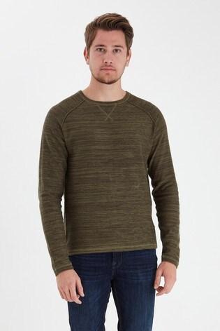 Blend Khaki Marl Crew Neck Sweater