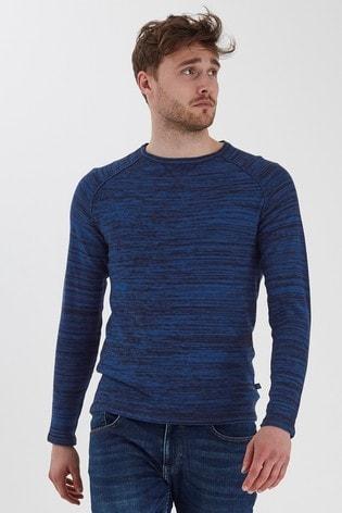 Blend Blue Marl Crew Neck Sweater