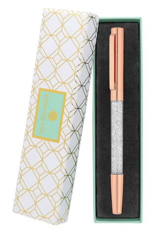 Jon Richard Rose Gold Crystal Pen - Gift Boxed