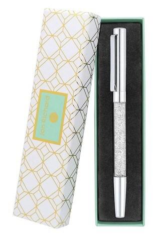 Jon Richard Silver Crystal Pen - Gift Boxed