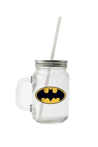 Personalised Batman Drinking Glass By YooDoo