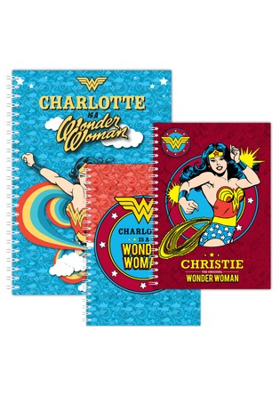 Personalised Wonder Woman Notepad Bundle By YooDoo