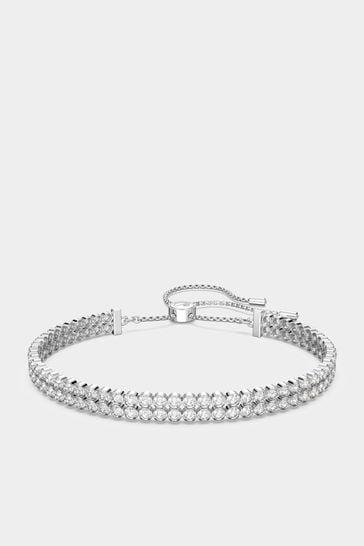 Swarovski®  Silver Subtle Bracelet
